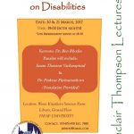 การบรรยายพิเศษเรื่องมุมมองของศาสนาต่อความพิการ